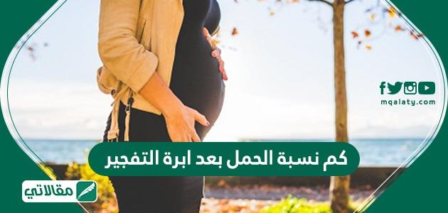 كم نسبة الحمل بعد ابرة التفجير
