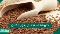 طريقة استخدام بذور الكتان للشعر وللبشرة
