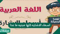 اسماء الاشاره كلها مبنيه ما عدا