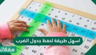 أسهل طريقه لحفظ جدول الضرب كامل للاطفال بالعربي وأفكار لحفظ جدول الضرب