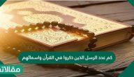 كم عدد الرسل الذين ذكروا في القرآن واسمائهم