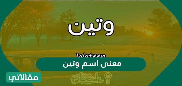 معنى وشخصية اسم وتين Wateen وصفات حاملة الاسم