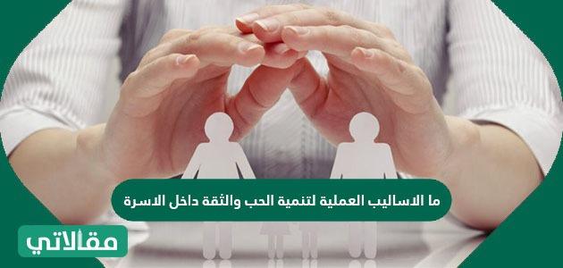 ما الأساليب العملية لتنمية الحب والثقة داخل الأسرة
