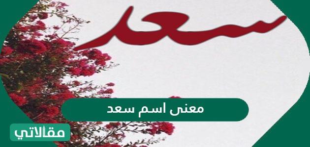 معنى اسم سعد وصفات حامل الاسم وشخصيته حسب علم النفس