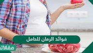 فوائد الرمان للحامل والجنين بالتفصيل