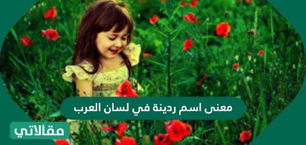 معنى اسم ردينة في لسان العرب وصفات حاملة هذا الاسم وحكم تسميته