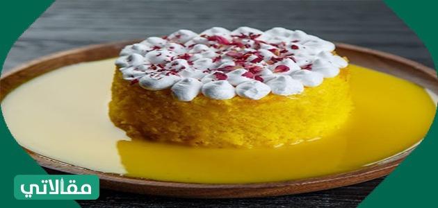 طريقة عمل كعكة الزعفران والبرتقال