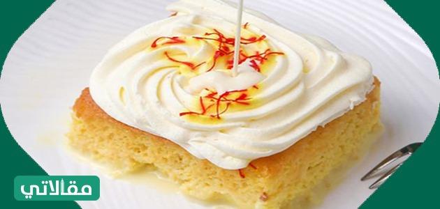 صنع كعكة الزعفران بالطريقة السهلة