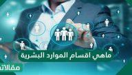 ما هي أقسام الموارد البشرية؟ وما هي أهدافها؟