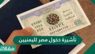تأشيرة دخول مصر لليمنيين والفئات المعفاة من استخراجها