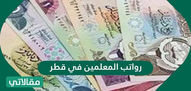 رواتب المعلمين في قطر والمهن التعليمية الأخرى