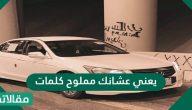 يعني عشانك مملوح كلمات