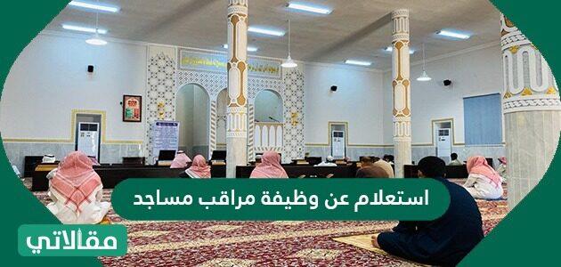 استعلام عن وظيفة مراقب مساجد
