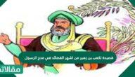 قصيدة لزهير بن كعب من أشهر القصائد في مدح الرسول
