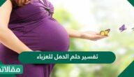 تفسير حلم الحمل للعزباء في المنام لابن سرين والنابلسي