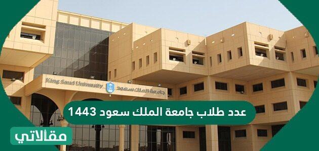 عدد طلاب جامعة الملك سعود 1443
