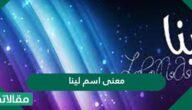 معنى اسم لينا في اللغة العربية وصفات حاملة الاسم