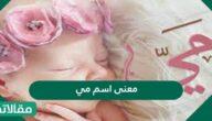 معنى اسم مي في اللغةالعربية وفي علم النفس