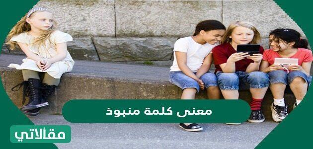 معنى كلمة منبوذ في القاموس العربي