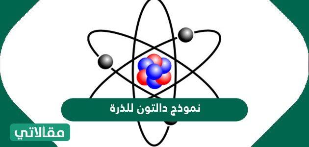 نموذج دالتون للذرة رسم