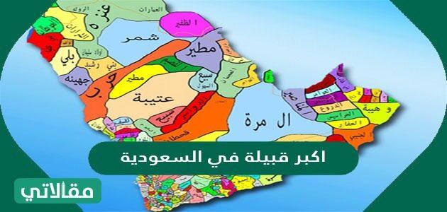 أكبر قبيلة في السعودية