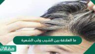 ما العلاقة بين الشيب ولب الشعرة