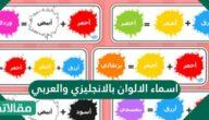أسماء الألوان بالإنجليزي والعربي